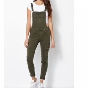 Kendal&Kylie Overalls Pants Army Green |Size 26|